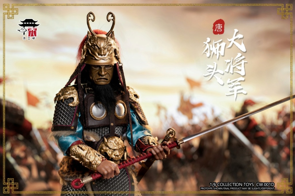 "General - NEW PRODUCT: Tiangongfang: 1/6 Tang Dynasty ""Eight Duke""-General Lion Head (handmade brass mountain armor, fish scale armor) 00591411"