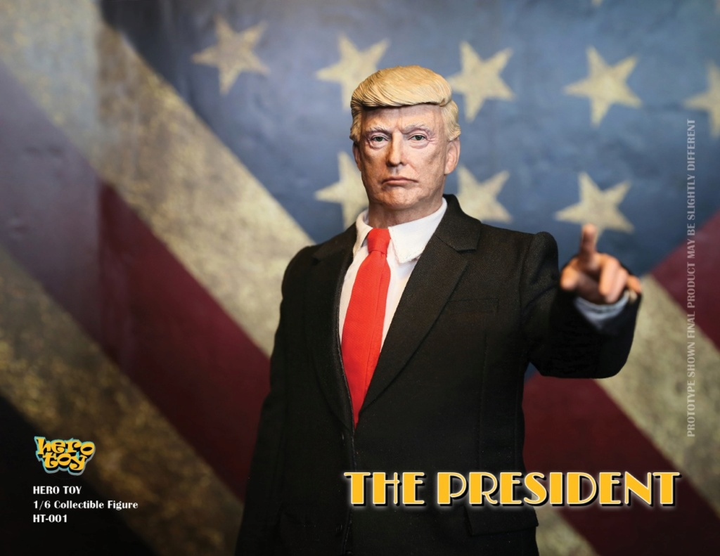 US - NEW PRODUCT: HEROTOY + Face Mask Play: 1/6 President 01035710