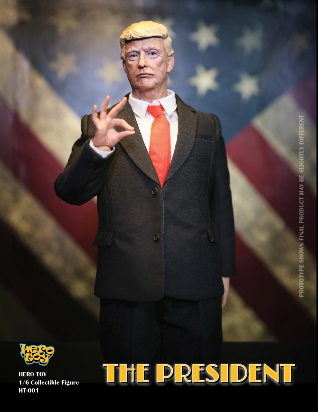 US - NEW PRODUCT: HEROTOY + Face Mask Play: 1/6 President 01124710