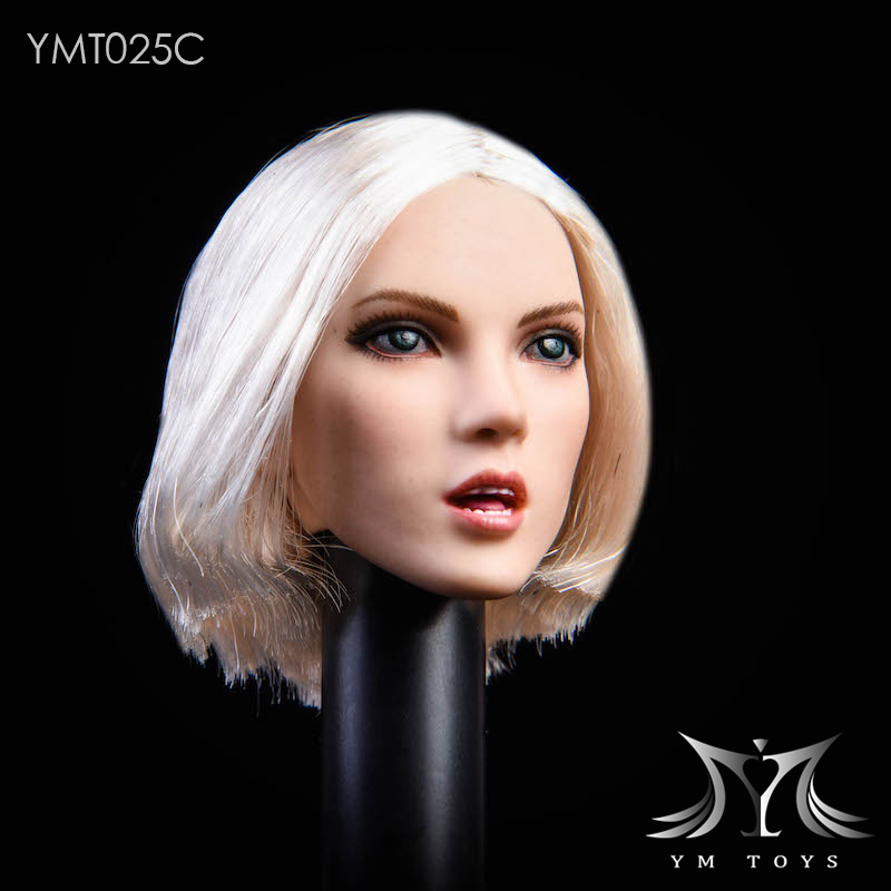 female - NEW PRODUCT: YMTOYS: 1/6 悠女头雕YMT025- 植发 Suitable for white female body 01171810