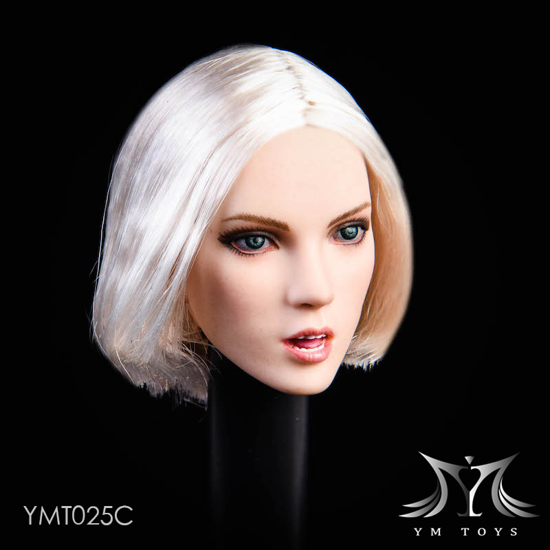 female - NEW PRODUCT: YMTOYS: 1/6 悠女头雕YMT025- 植发 Suitable for white female body 01172011