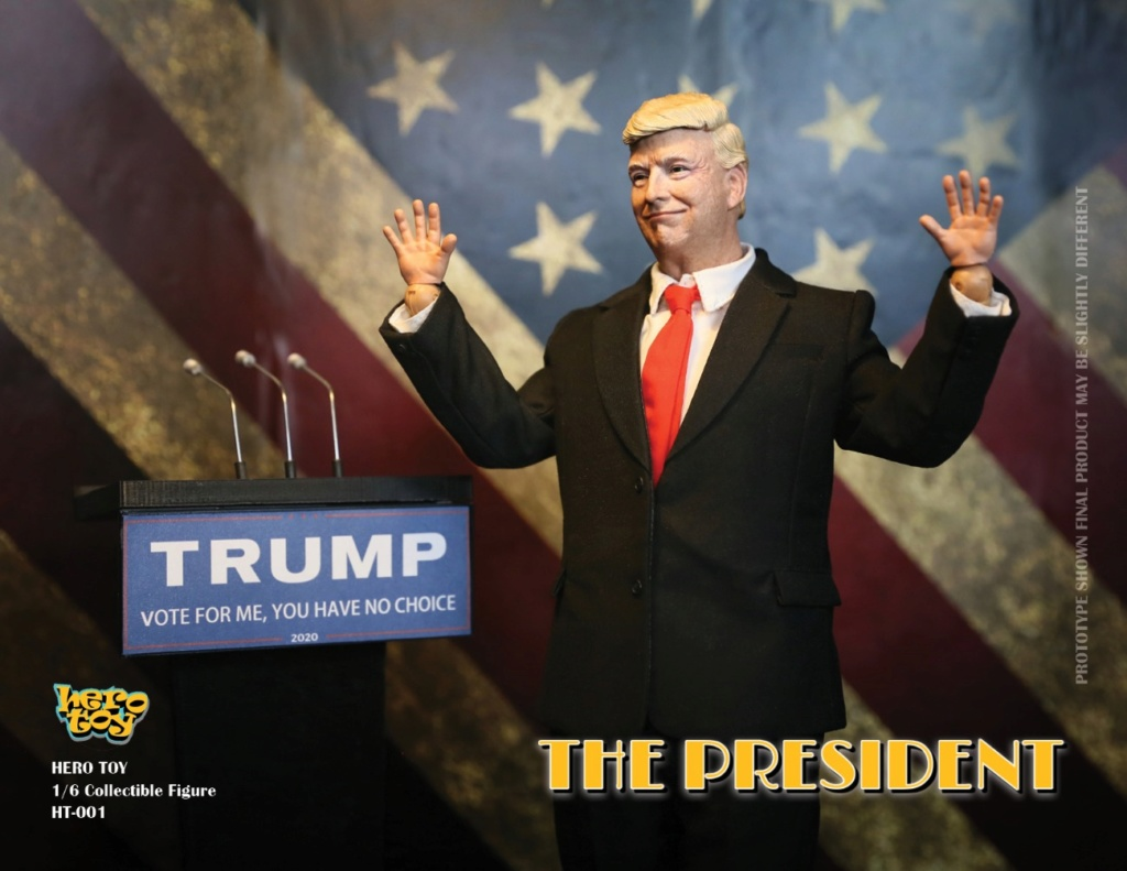 US - NEW PRODUCT: HEROTOY + Face Mask Play: 1/6 President 01193110