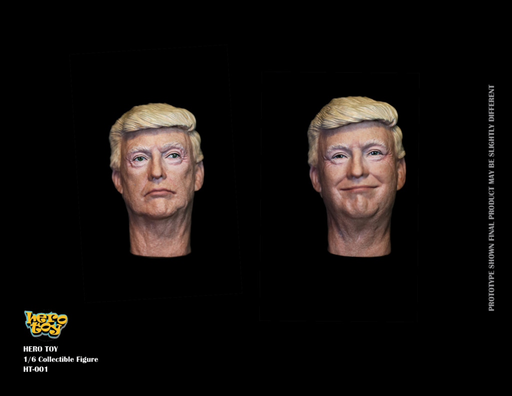 US - NEW PRODUCT: HEROTOY + Face Mask Play: 1/6 President 01230110