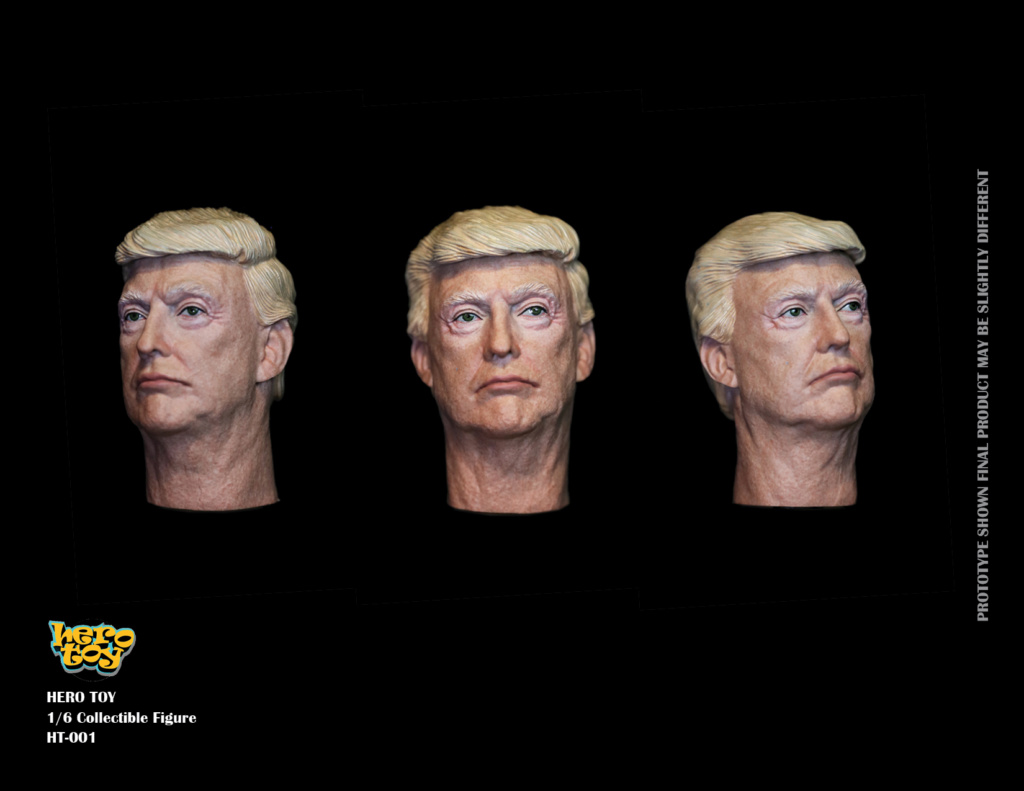 US - NEW PRODUCT: HEROTOY + Face Mask Play: 1/6 President 01280310