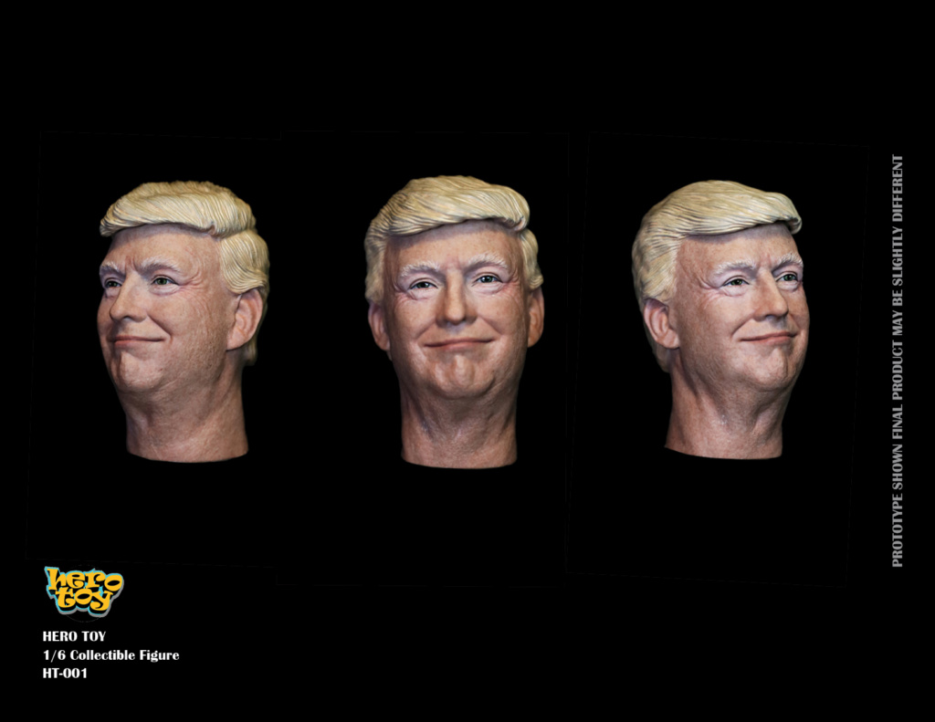 US - NEW PRODUCT: HEROTOY + Face Mask Play: 1/6 President 01291510