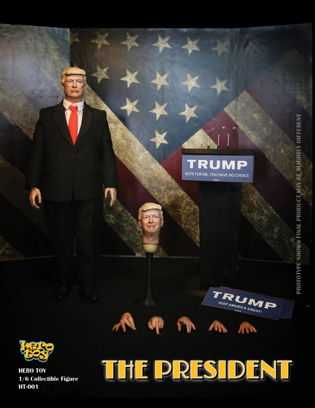 US - NEW PRODUCT: HEROTOY + Face Mask Play: 1/6 President 01320410