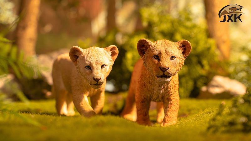 cubs - NEW PRODUCT: JXK/Kaiser: 1/6 Lion King - Little Simba and Nana 01540610