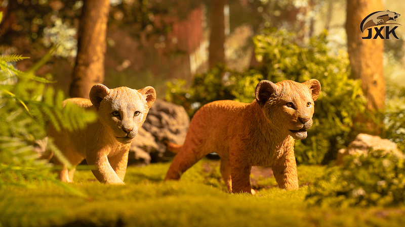 cubs - NEW PRODUCT: JXK/Kaiser: 1/6 Lion King - Little Simba and Nana 01540611