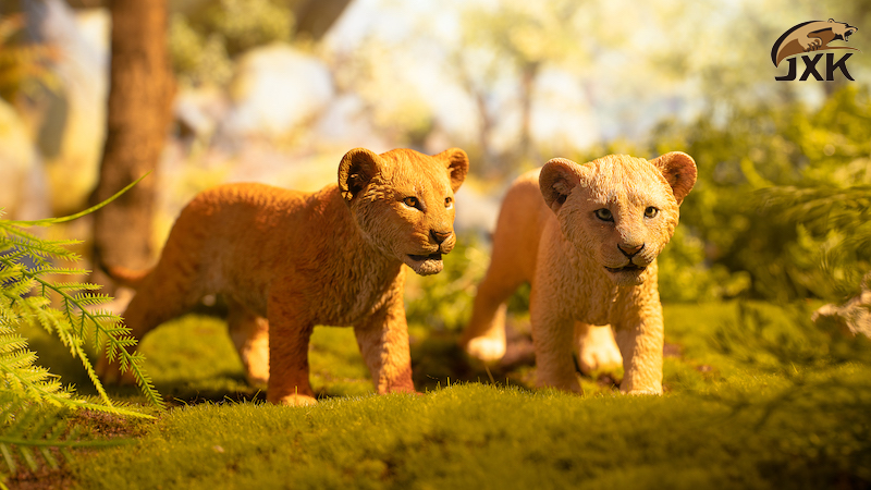 cubs - NEW PRODUCT: JXK/Kaiser: 1/6 Lion King - Little Simba and Nana 01540711