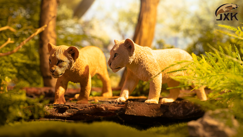 cubs - NEW PRODUCT: JXK/Kaiser: 1/6 Lion King - Little Simba and Nana 01540712
