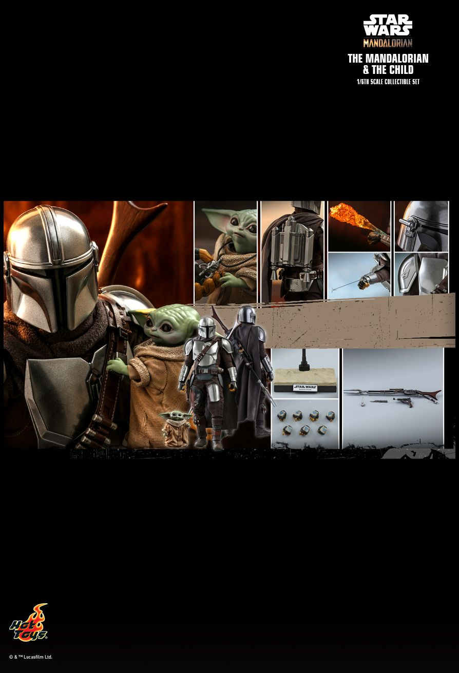 Sci-Fi - NEW PRODUCT: HOT TOYS: THE MANDALORIAN THE MANDALORIAN AND THE CHILD 1/6TH SCALE COLLECTIBLE SET (Standard and Deluxe) 04215a10