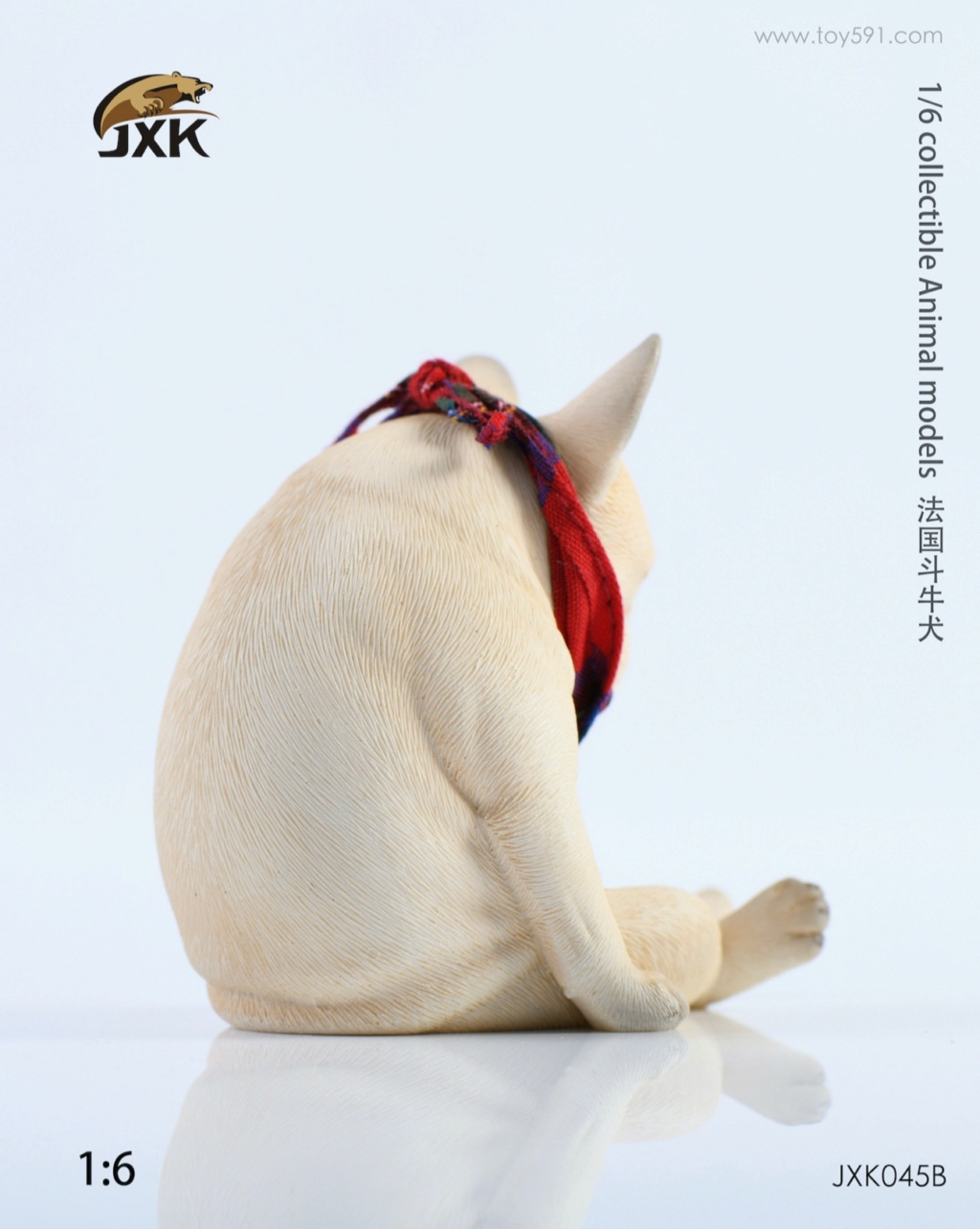 Dog - NEW PRODUCT: JXK 1/6 Decadent Dog JXK045 French Bulldog + Scarf 05251010