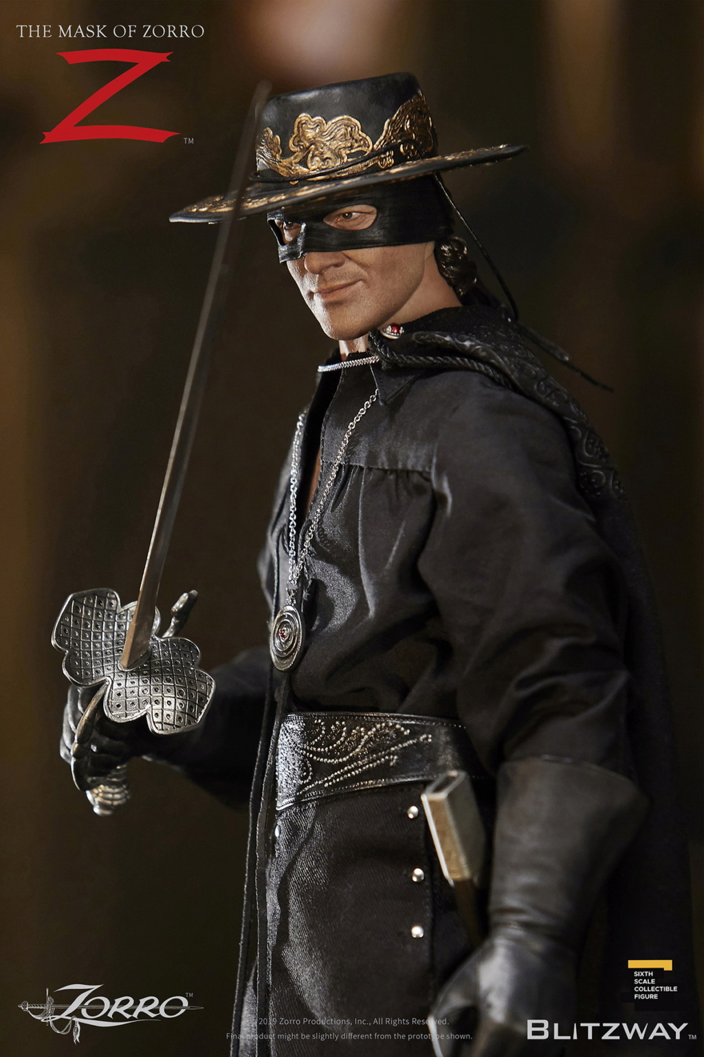 "Blitzway - NEW PRODUCT: Blitzway: 1/6 ""Mask of Zorro"" 1998- Zorro/Zorro-Double-headed Vulture Configuration (#BW-UMS 11101) 05514510"