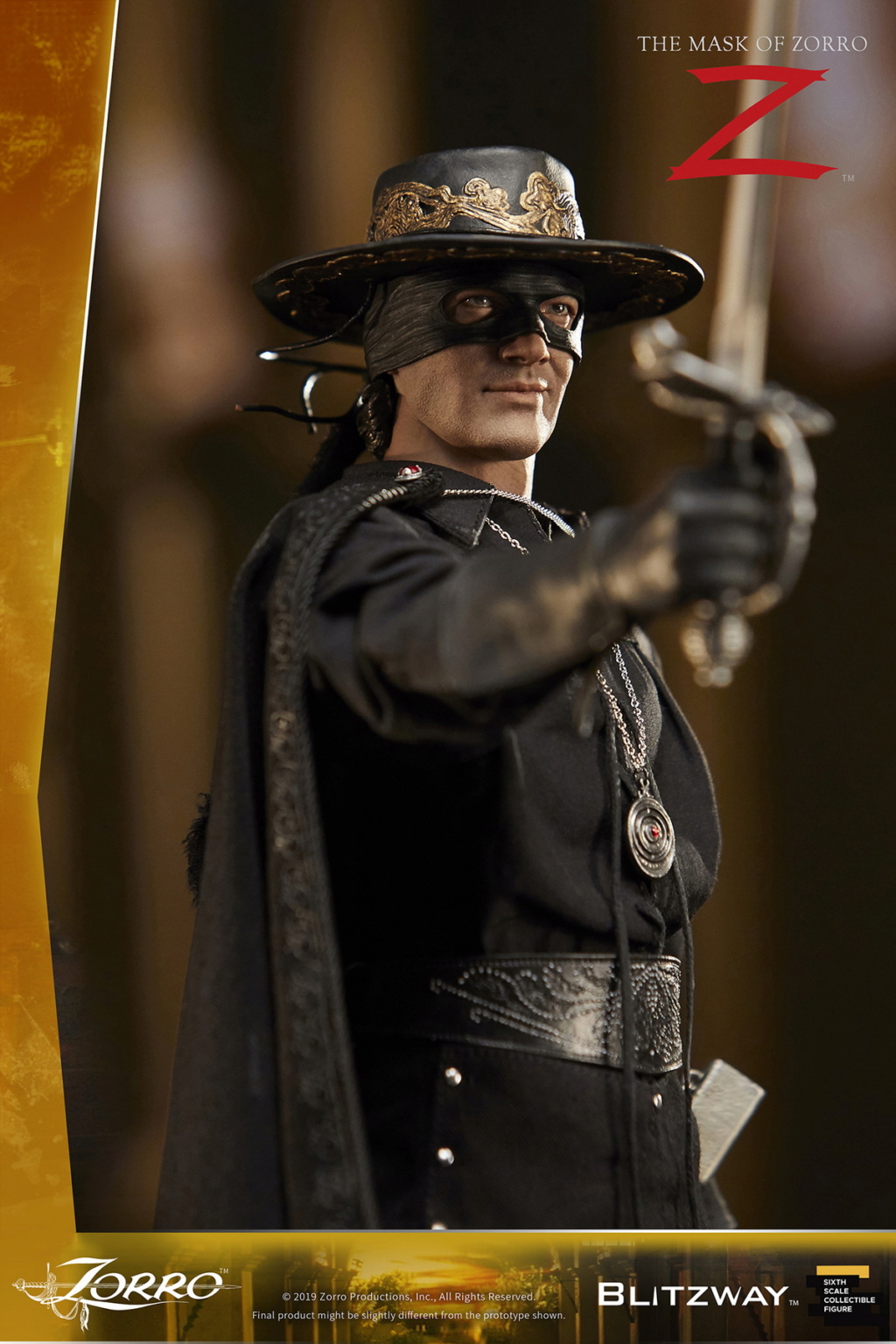 "Blitzway - NEW PRODUCT: Blitzway: 1/6 ""Mask of Zorro"" 1998- Zorro/Zorro-Double-headed Vulture Configuration (#BW-UMS 11101) 05515210"