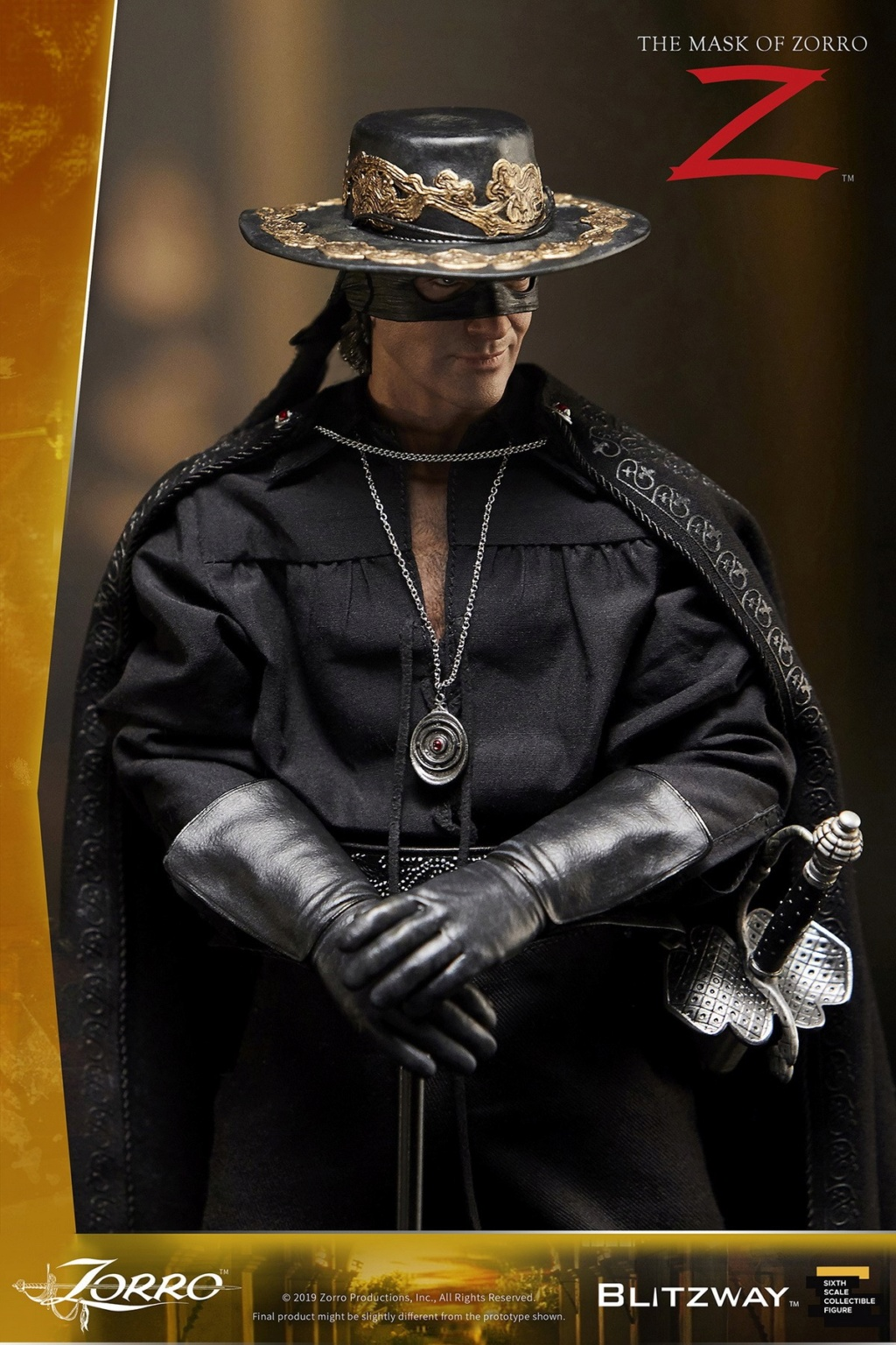 "Blitzway - NEW PRODUCT: Blitzway: 1/6 ""Mask of Zorro"" 1998- Zorro/Zorro-Double-headed Vulture Configuration (#BW-UMS 11101) 05515710"