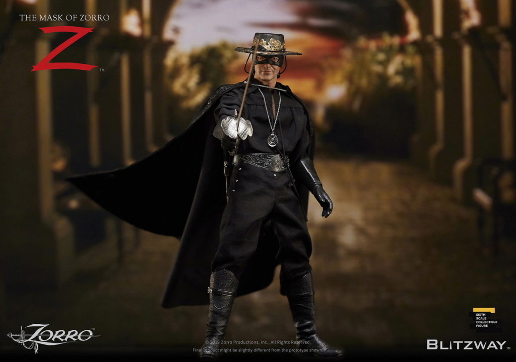 "Blitzway - NEW PRODUCT: Blitzway: 1/6 ""Mask of Zorro"" 1998- Zorro/Zorro-Double-headed Vulture Configuration (#BW-UMS 11101) 05520310"