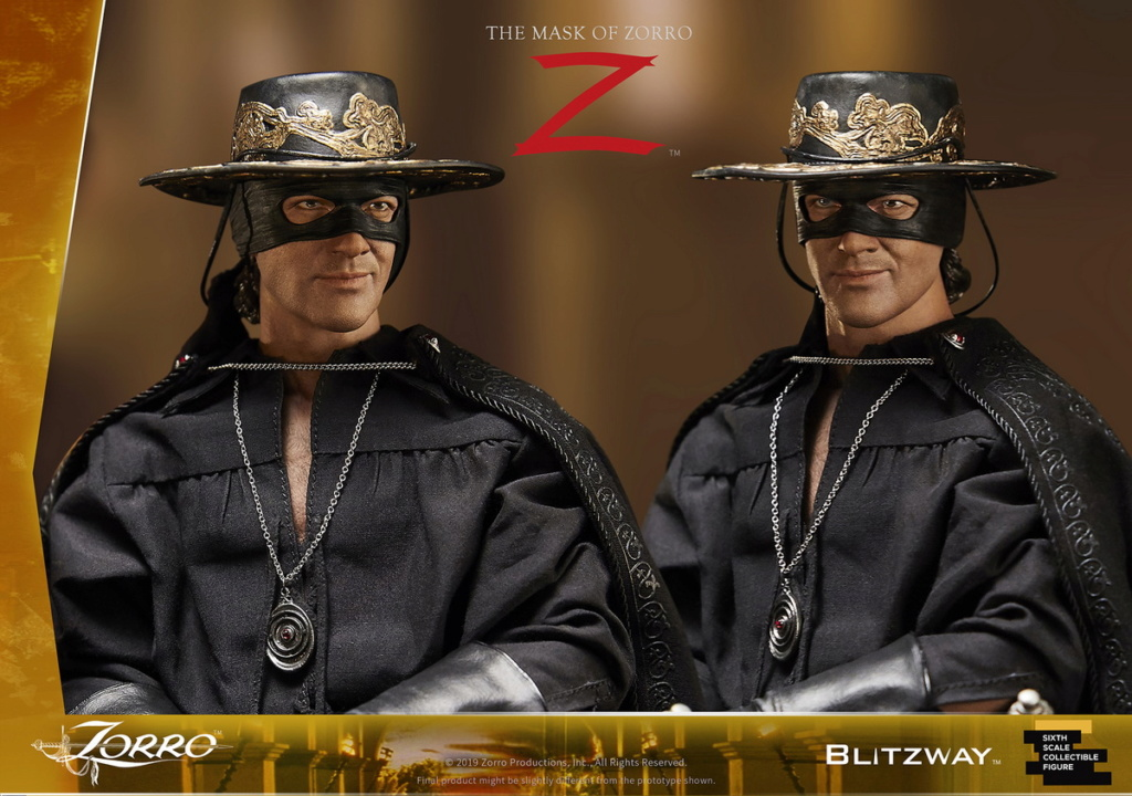 "Blitzway - NEW PRODUCT: Blitzway: 1/6 ""Mask of Zorro"" 1998- Zorro/Zorro-Double-headed Vulture Configuration (#BW-UMS 11101) 05520610"