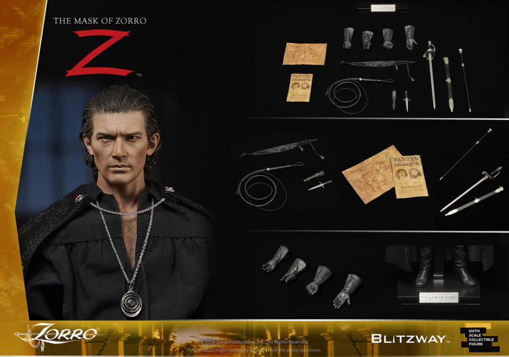 "Blitzway - NEW PRODUCT: Blitzway: 1/6 ""Mask of Zorro"" 1998- Zorro/Zorro-Double-headed Vulture Configuration (#BW-UMS 11101) 05520910"