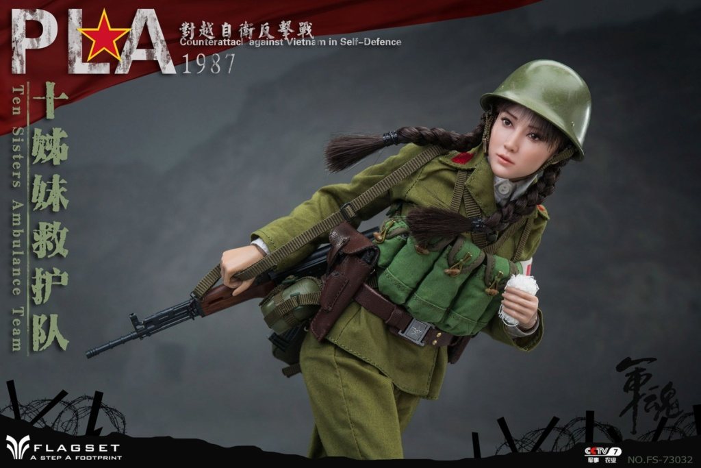 CounterAttack - NEW PRODUCT: Flagset: 1/6 counterattack against Vietnam-female soldiers of the ten sisters rescue team of the Chinese People's Liberation Army (FS73032#) 06540210