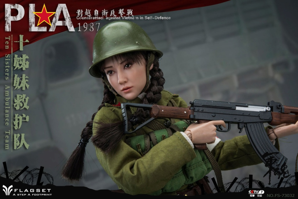 CounterAttack - NEW PRODUCT: Flagset: 1/6 counterattack against Vietnam-female soldiers of the ten sisters rescue team of the Chinese People's Liberation Army (FS73032#) 06540310