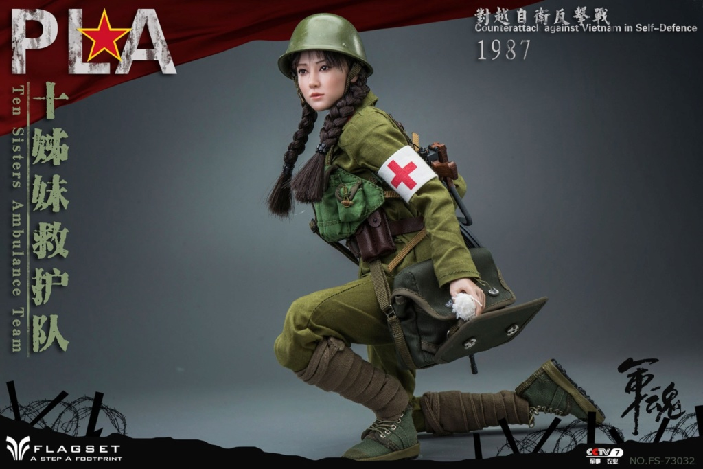 CounterAttack - NEW PRODUCT: Flagset: 1/6 counterattack against Vietnam-female soldiers of the ten sisters rescue team of the Chinese People's Liberation Army (FS73032#) 06540410