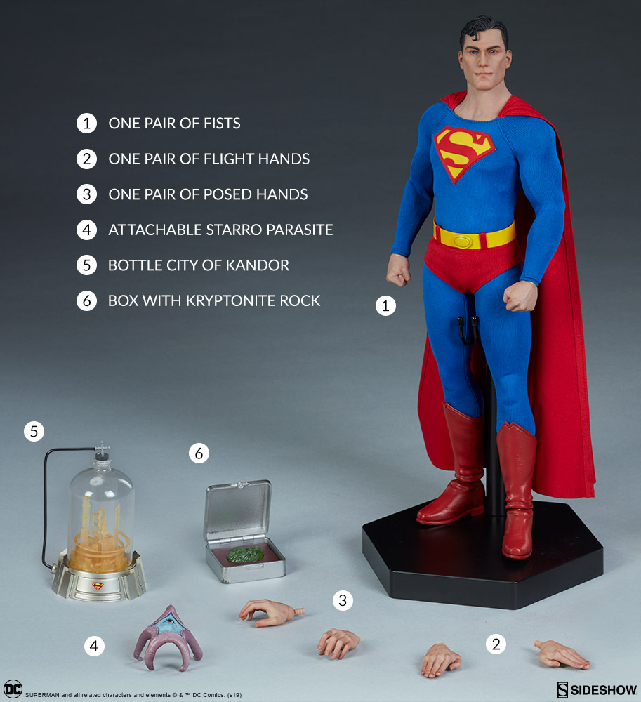 male - NEW PRODUCT: Sideshow: 1/6 DC Comics - Superman/Superman Movable (#100224) 07590010