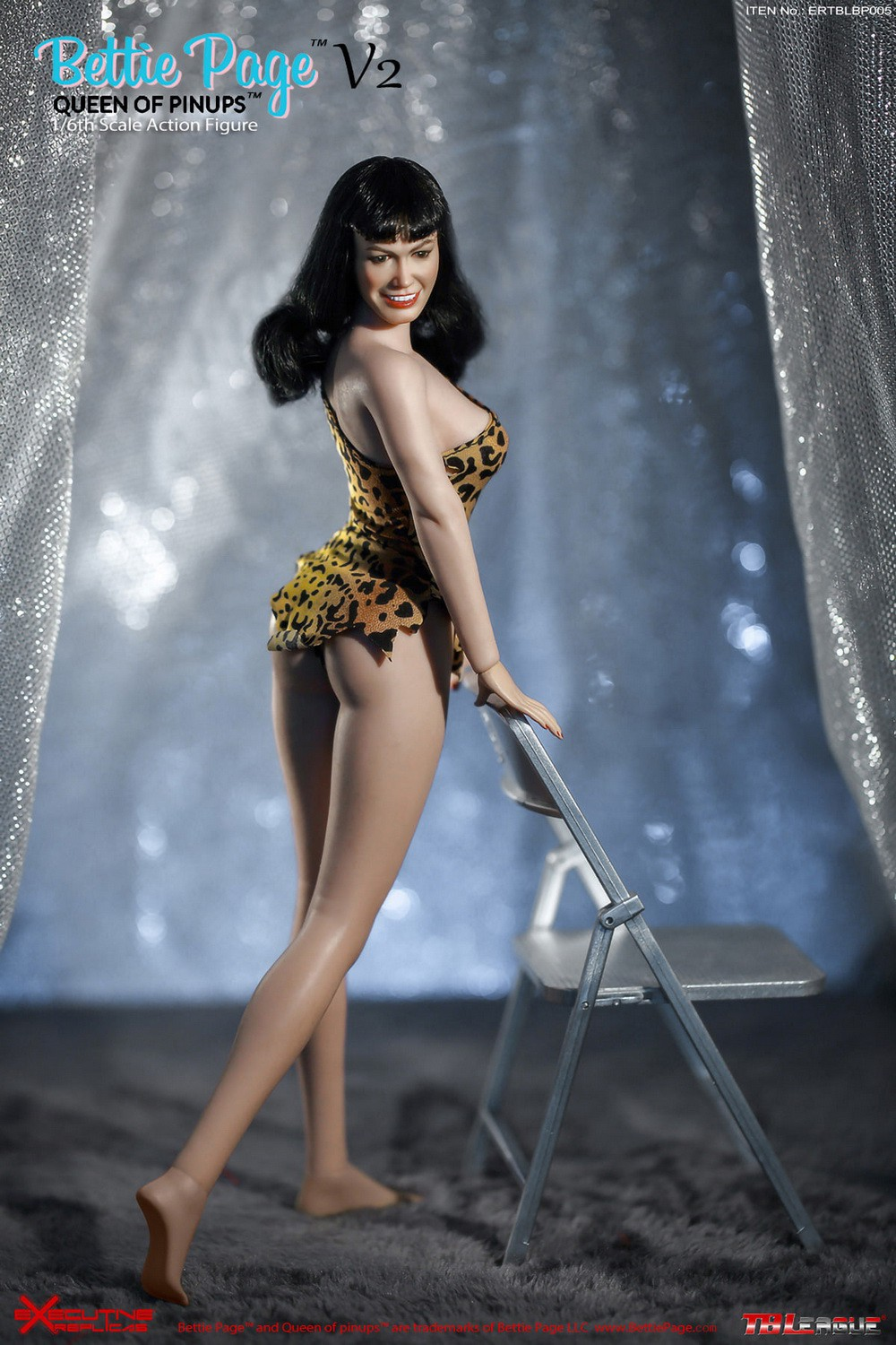 tbleague - NEW PRODUCT: Executive Replicas & TBLeague: 1/6 Queen of Pin-Ups, Betty Page/Bettie Page V2 action figure 08343210