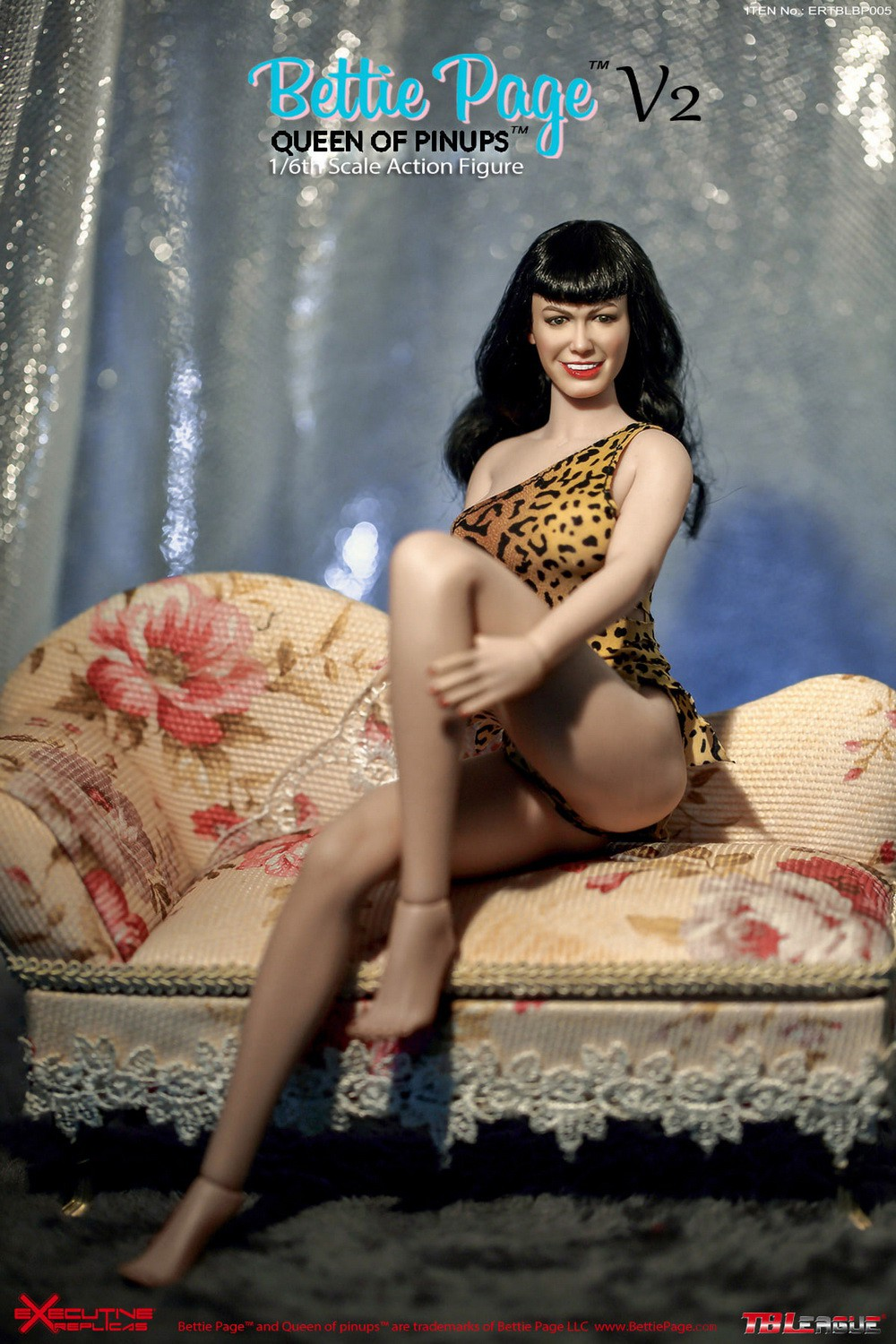 tbleague - NEW PRODUCT: Executive Replicas & TBLeague: 1/6 Queen of Pin-Ups, Betty Page/Bettie Page V2 action figure 08344010