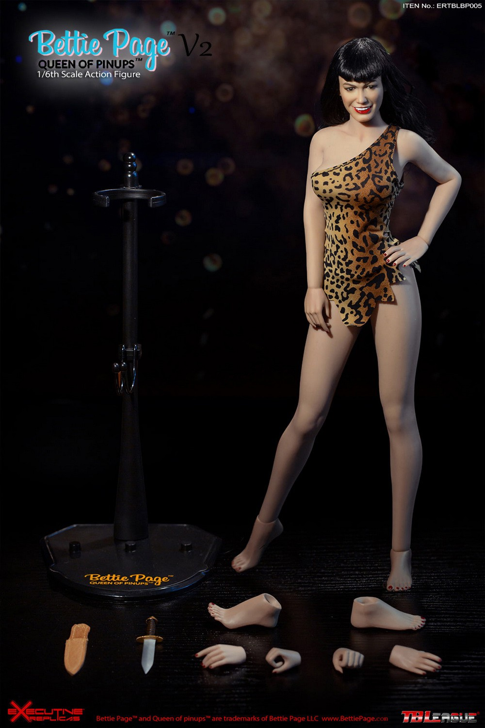 tbleague - NEW PRODUCT: Executive Replicas & TBLeague: 1/6 Queen of Pin-Ups, Betty Page/Bettie Page V2 action figure 08345610