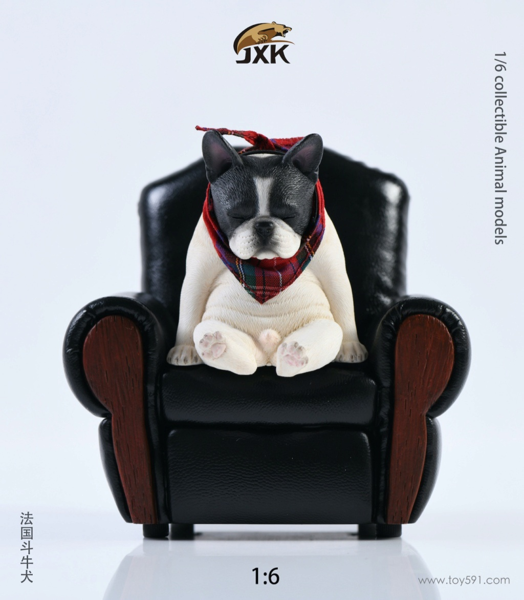 Dog - NEW PRODUCT: JXK 1/6 Decadent Dog JXK045 French Bulldog + Scarf 08ca9610