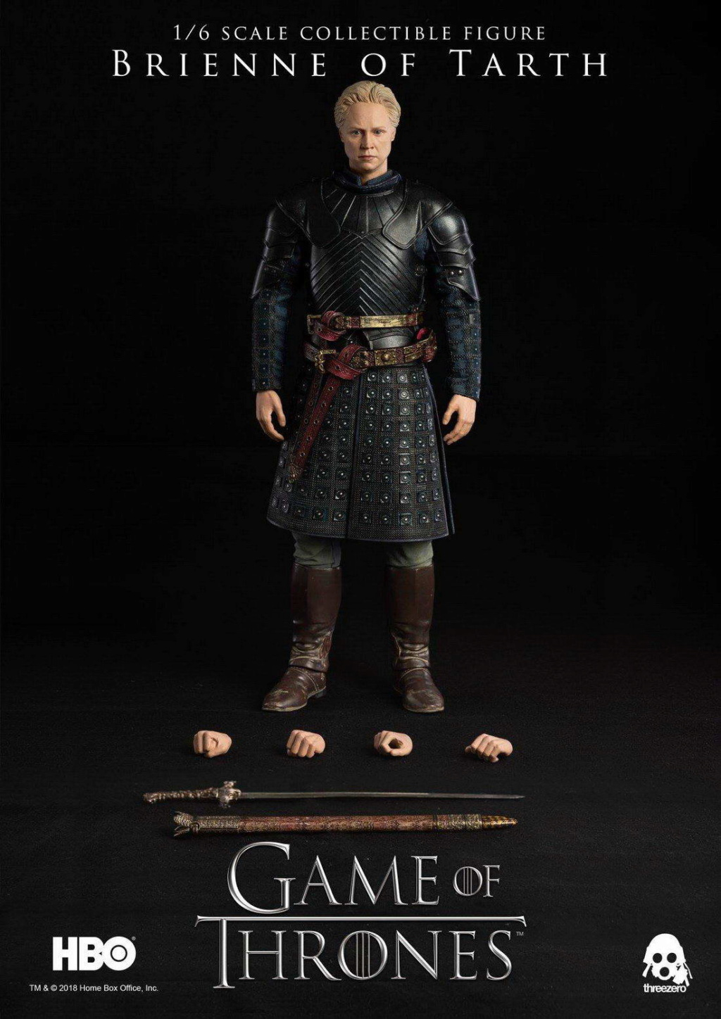 "NEW PRODUCT: ThreeZero New: 1/6 ""The Song of Ice and Fire: The Game of Power"" - Brienne of Tarth / Tarnes 09242610"