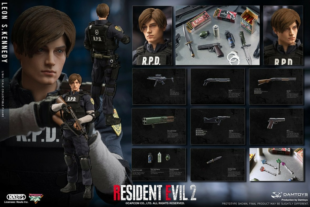 "Sci-Fi - NEW PRODUCT: NAUTS & DAMTOYS: 1/6 ""Resident Evil 2""-LEON S.KENNEDY/Lyon S. Kennedy remake #DMS030  0aff8c10"