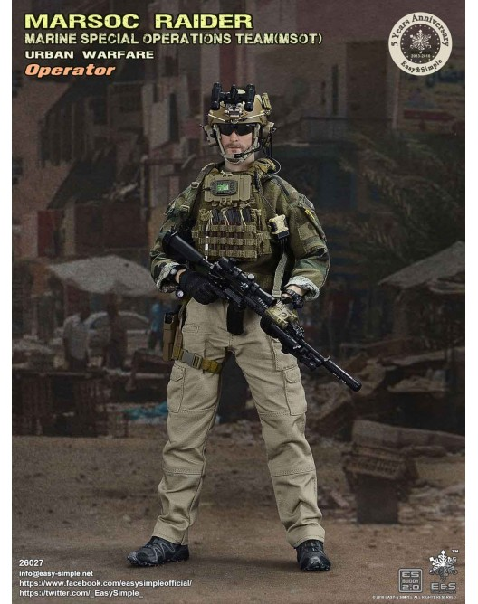 NEW PRODUCT: Easy & Simple 26027 1/6 Scale MARSOC Raider Urban Warfare Operator 1-528x10