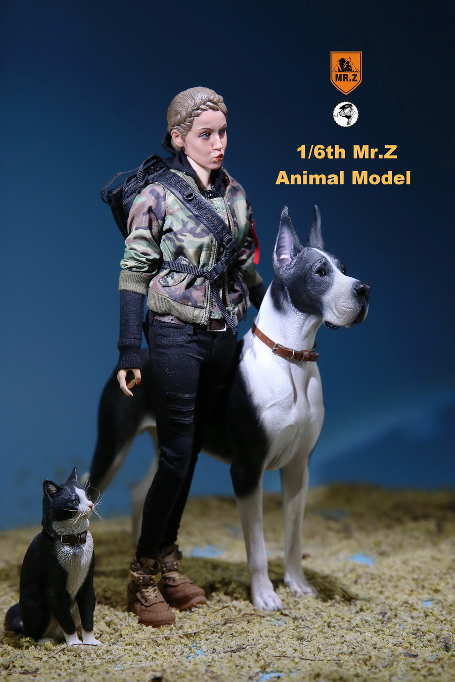 NEW PRODUCT: Mr.Z: simulation animal 37th-1/6 ratio German Great Dane German Great Dane - full set of 6 colors 10042110