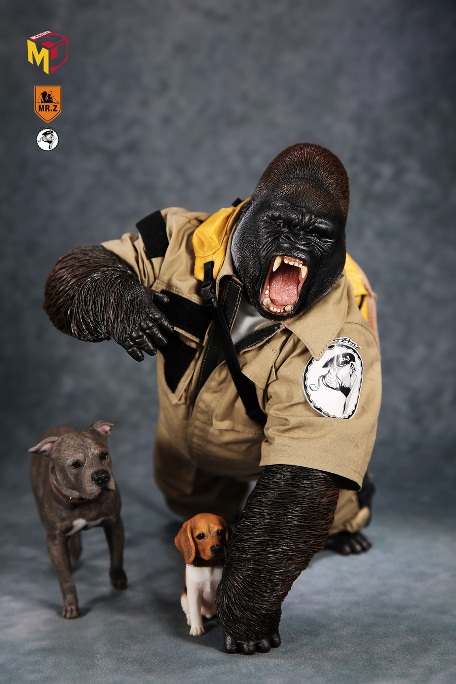 NEW PRODUCT: Mr.Z new product: 1/6 simulation animal model 31st bomb - African lowland gorilla (all 2 heads can be changed to upper limbs) 10065910