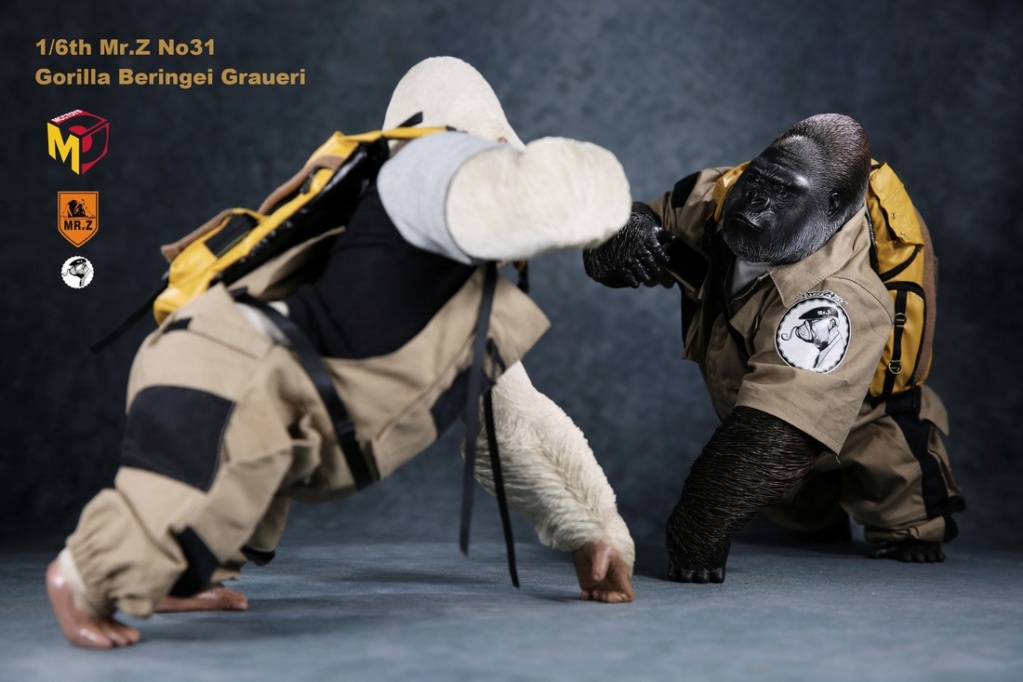 NEW PRODUCT: Mr.Z new product: 1/6 simulation animal model 31st bomb - African lowland gorilla (all 2 heads can be changed to upper limbs) 10070111