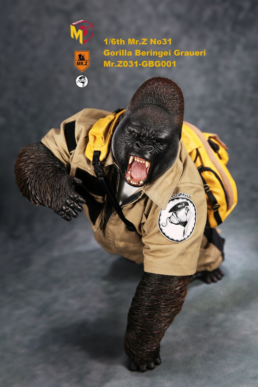 NEW PRODUCT: Mr.Z new product: 1/6 simulation animal model 31st bomb - African lowland gorilla (all 2 heads can be changed to upper limbs) 10101010