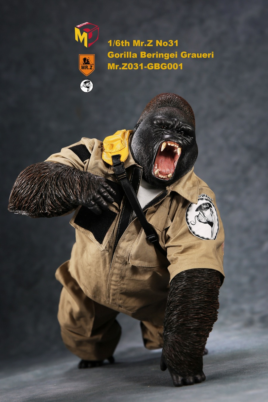 NEW PRODUCT: Mr.Z new product: 1/6 simulation animal model 31st bomb - African lowland gorilla (all 2 heads can be changed to upper limbs) 10101411