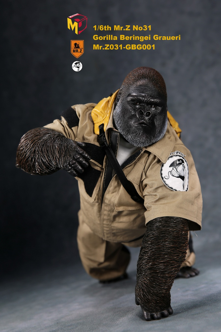 NEW PRODUCT: Mr.Z new product: 1/6 simulation animal model 31st bomb - African lowland gorilla (all 2 heads can be changed to upper limbs) 10102710