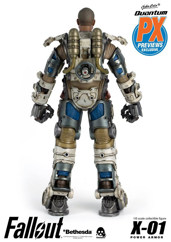 "Fallout - NEW PRODUCT: Three Zero Exclusive 1/6th scale X-01 ""Quantum"" Power Armor 14.5-inch Figure Set 10103"