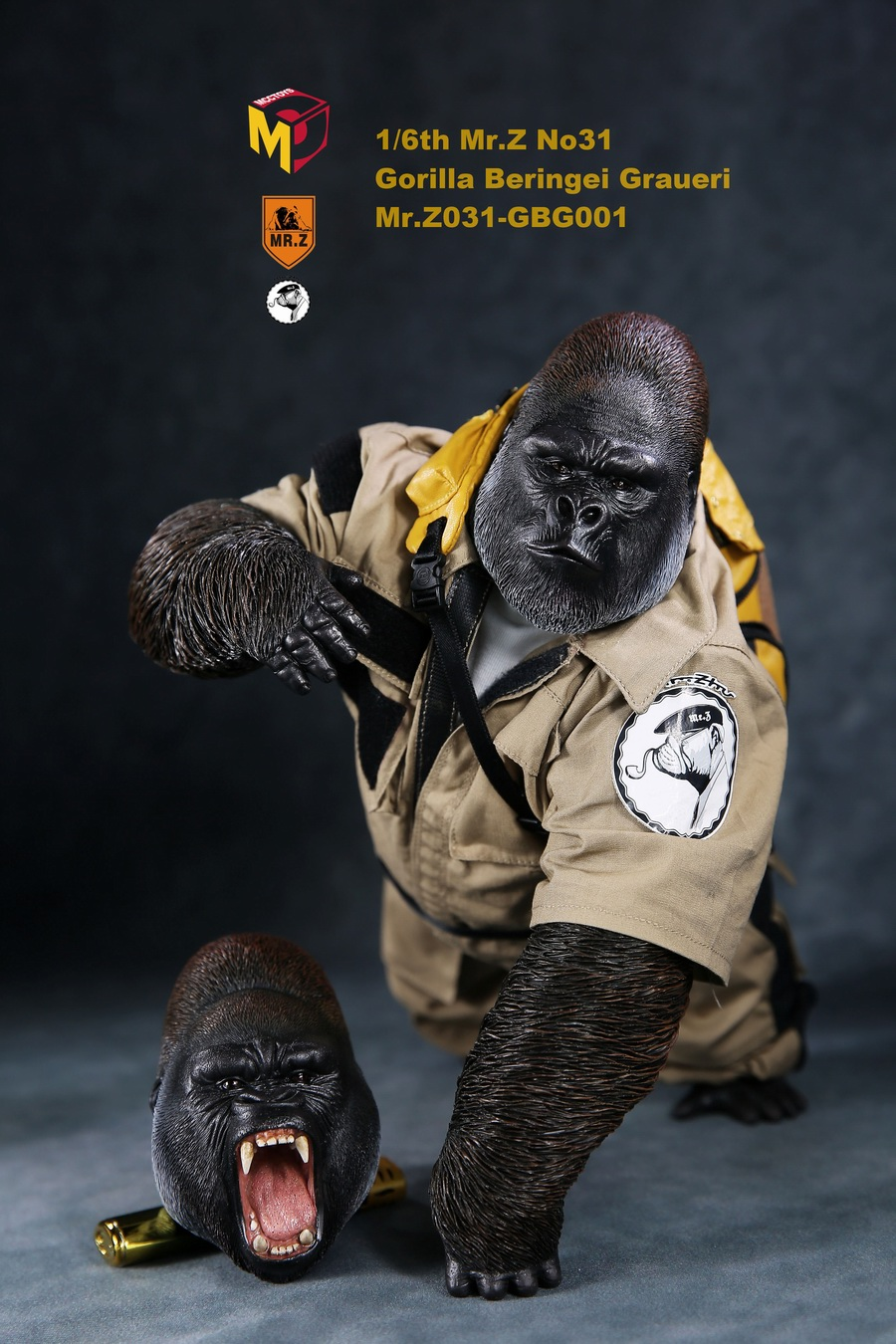 NEW PRODUCT: Mr.Z new product: 1/6 simulation animal model 31st bomb - African lowland gorilla (all 2 heads can be changed to upper limbs) 10103410