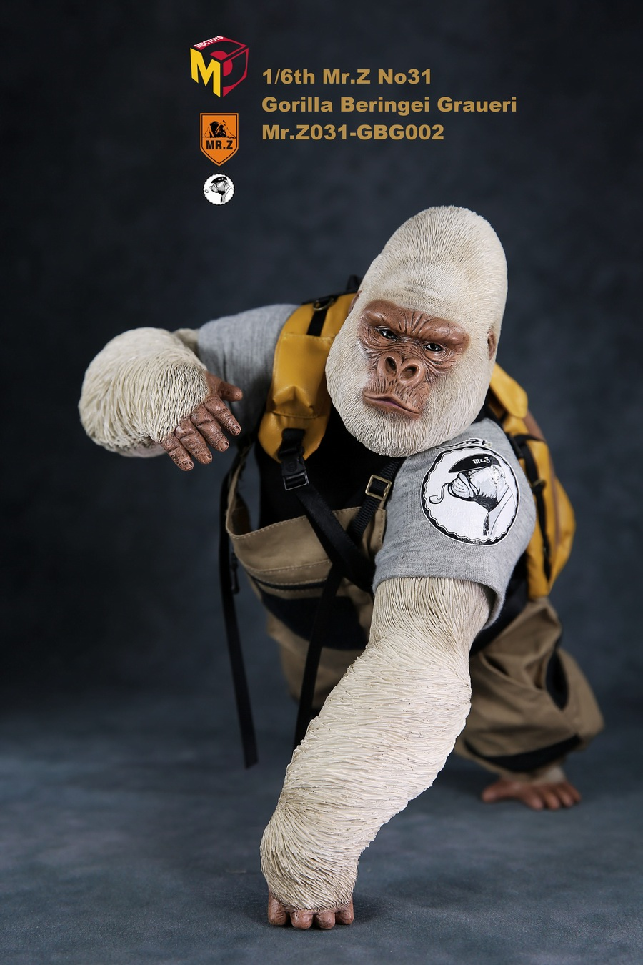 NEW PRODUCT: Mr.Z new product: 1/6 simulation animal model 31st bomb - African lowland gorilla (all 2 heads can be changed to upper limbs) 10110511