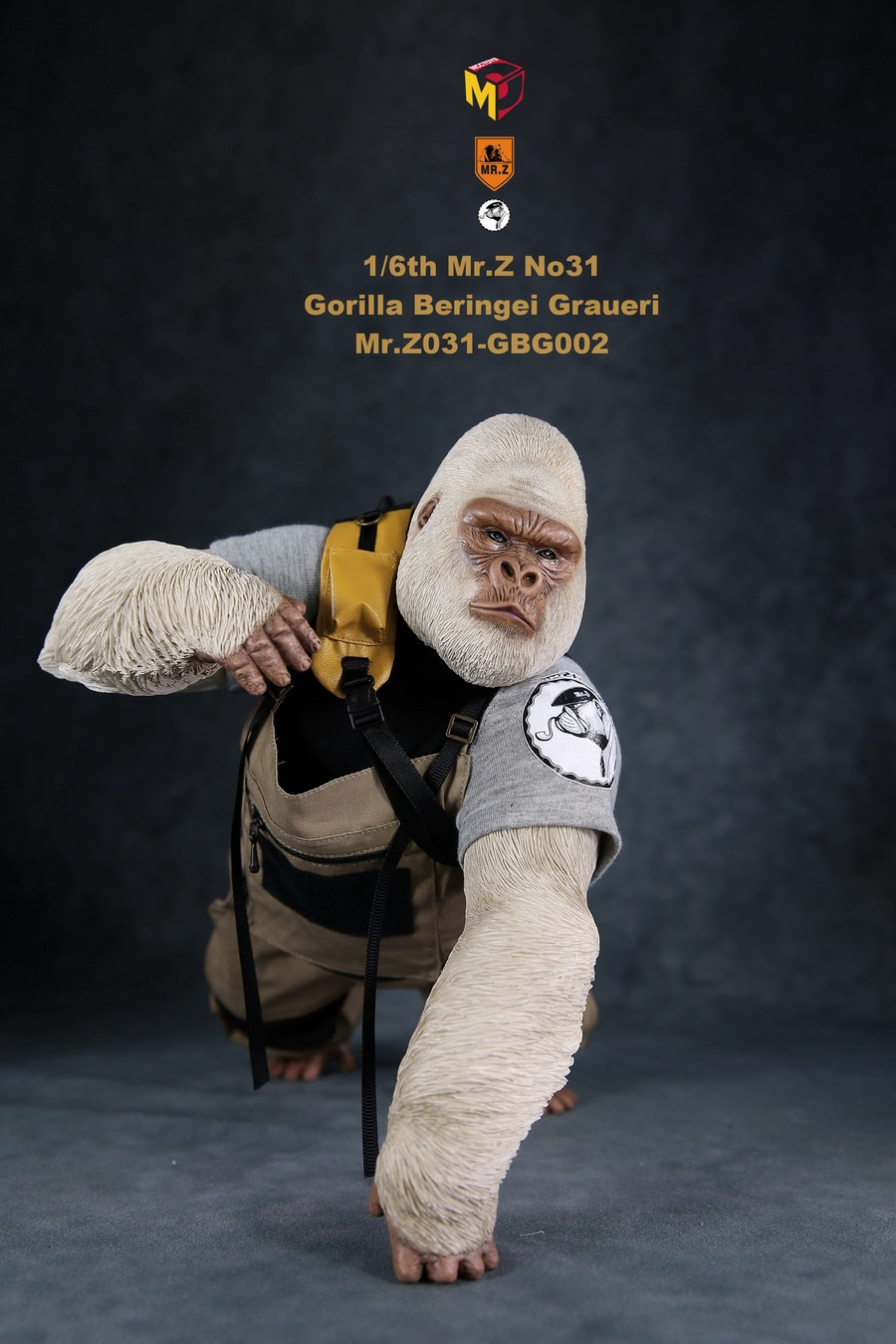 NEW PRODUCT: Mr.Z new product: 1/6 simulation animal model 31st bomb - African lowland gorilla (all 2 heads can be changed to upper limbs) 10110610