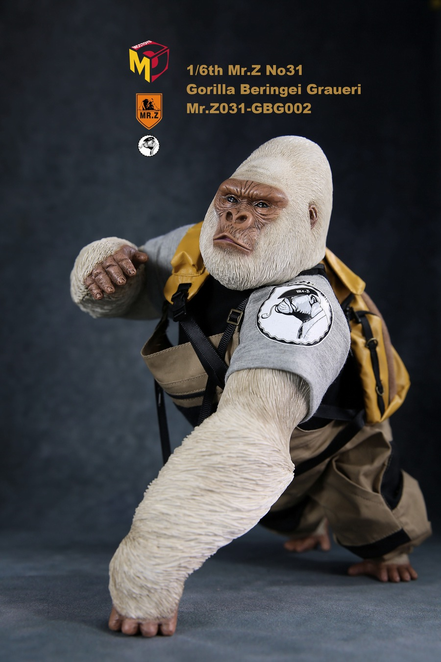 NEW PRODUCT: Mr.Z new product: 1/6 simulation animal model 31st bomb - African lowland gorilla (all 2 heads can be changed to upper limbs) 10110611