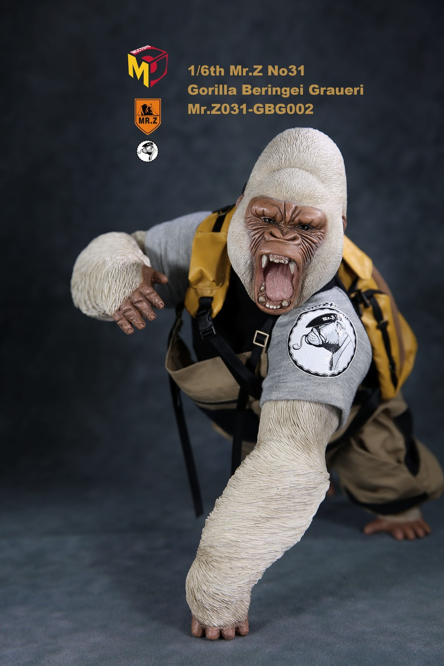 NEW PRODUCT: Mr.Z new product: 1/6 simulation animal model 31st bomb - African lowland gorilla (all 2 heads can be changed to upper limbs) 10110710