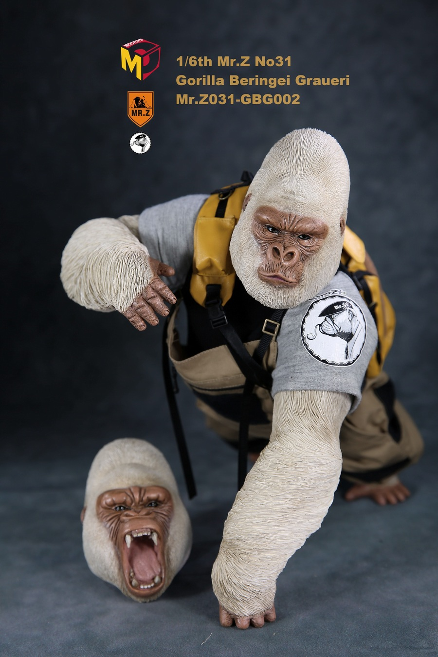 NEW PRODUCT: Mr.Z new product: 1/6 simulation animal model 31st bomb - African lowland gorilla (all 2 heads can be changed to upper limbs) 10110910