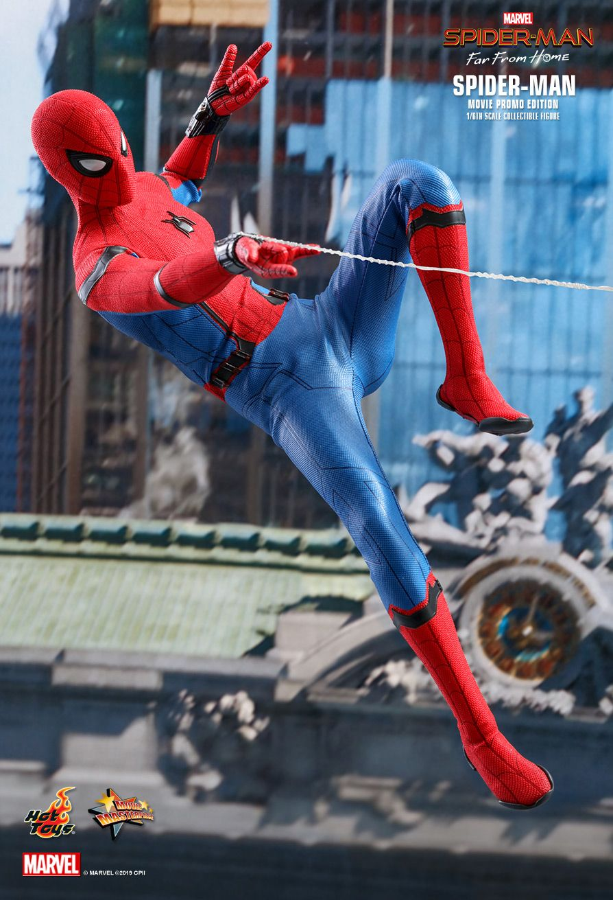 marvel - NEW PRODUCT: HOT TOYS: SPIDER-MAN: FAR FROM HOME SPIDER-MAN (MOVIE PROMO EDITION) 1/6TH SCALE COLLECTIBLE FIGURE 10163