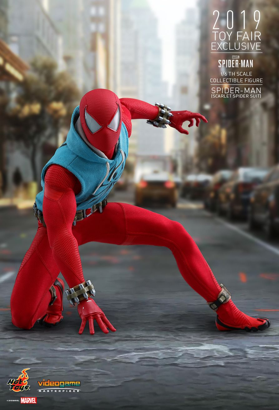 marvel - NEW PRODUCT: HOT TOYS: MARVEL'S SPIDER-MAN SPIDER-MAN (SCARLET SPIDER SUIT) 1/6TH SCALE COLLECTIBLE FIGURE 10166