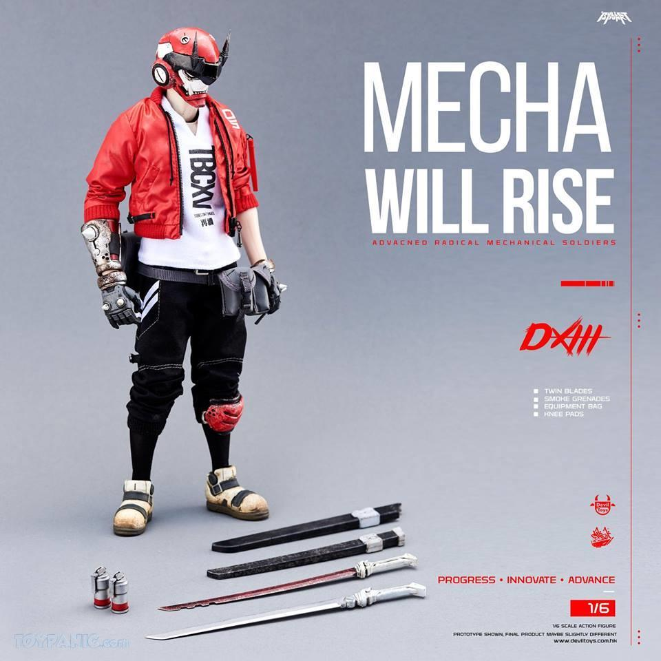 DXIII - NEW PRODUCT: DEVIL TOYS: 1/6 Mecha Will Rise - DXIII, Carbine, & DXIII & Carbine (Set) (DVT1710201801, -802, -803) 10172018