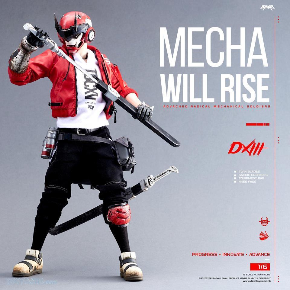 DXIII - NEW PRODUCT: DEVIL TOYS: 1/6 Mecha Will Rise - DXIII, Carbine, & DXIII & Carbine (Set) (DVT1710201801, -802, -803) 10172019